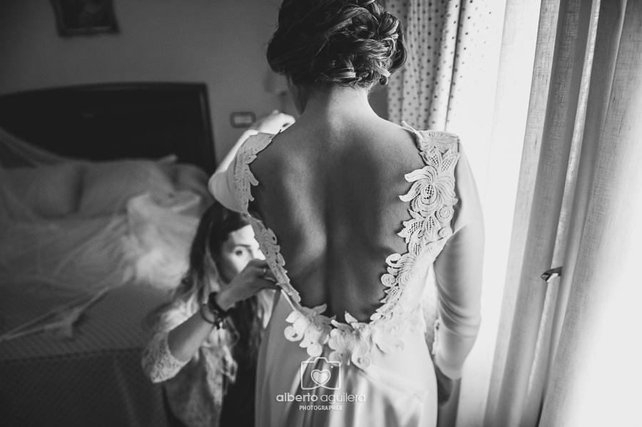 el vestido de novia de Marta