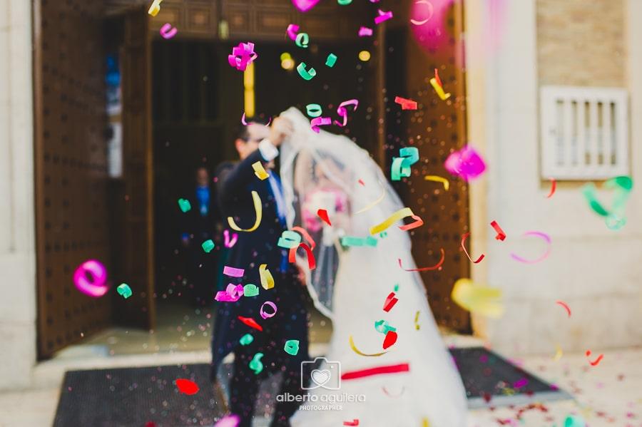confeti en la boda