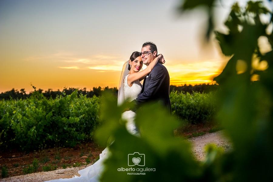 novios en la viña, boda