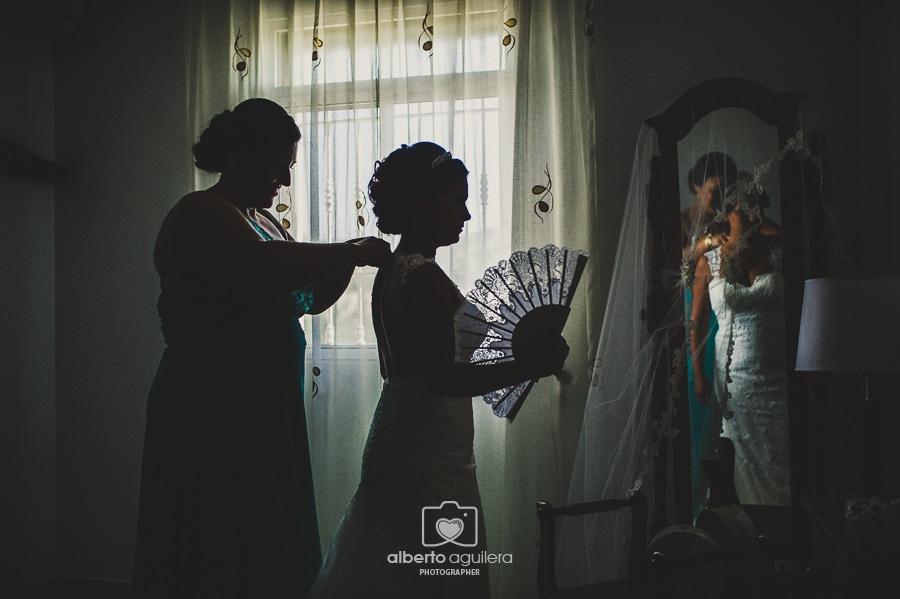 contraluz novia