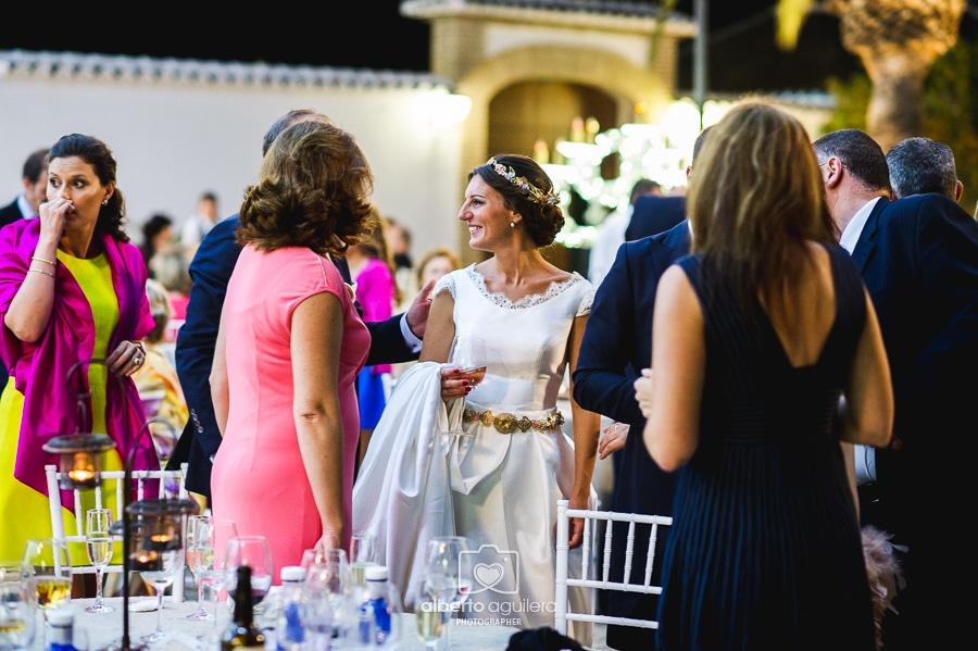 novia con invitados