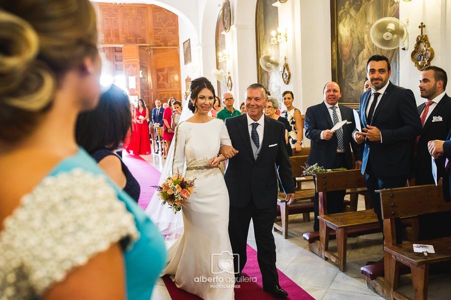 entrada novia, iglesia de jesús nazareno
