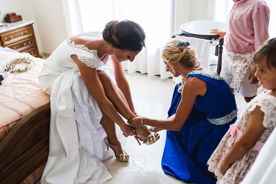 zapatos de novia, boda en puente genil