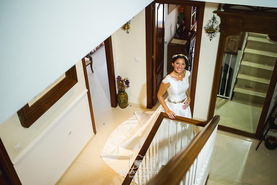 vestido de novia, boda en puente genil