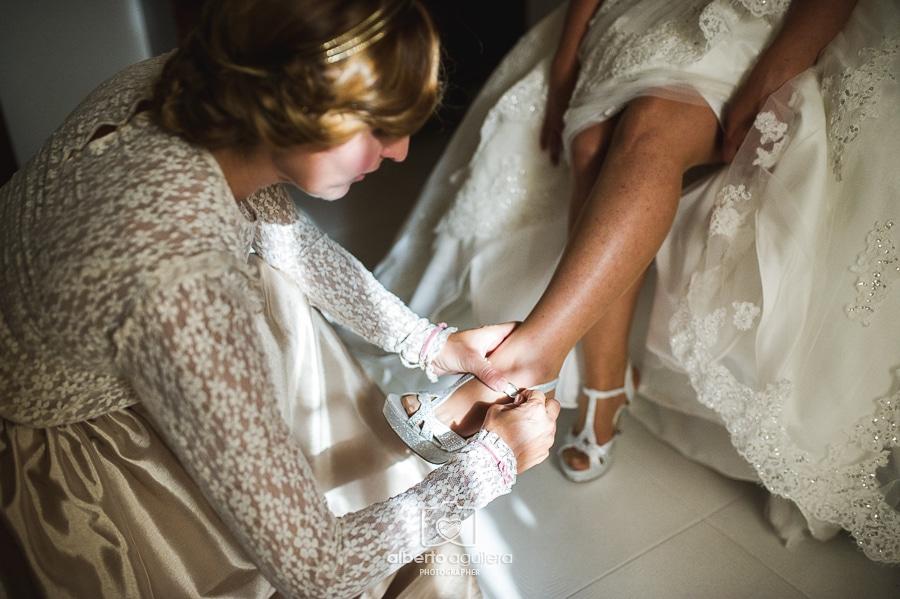 detalle zapatos de novia