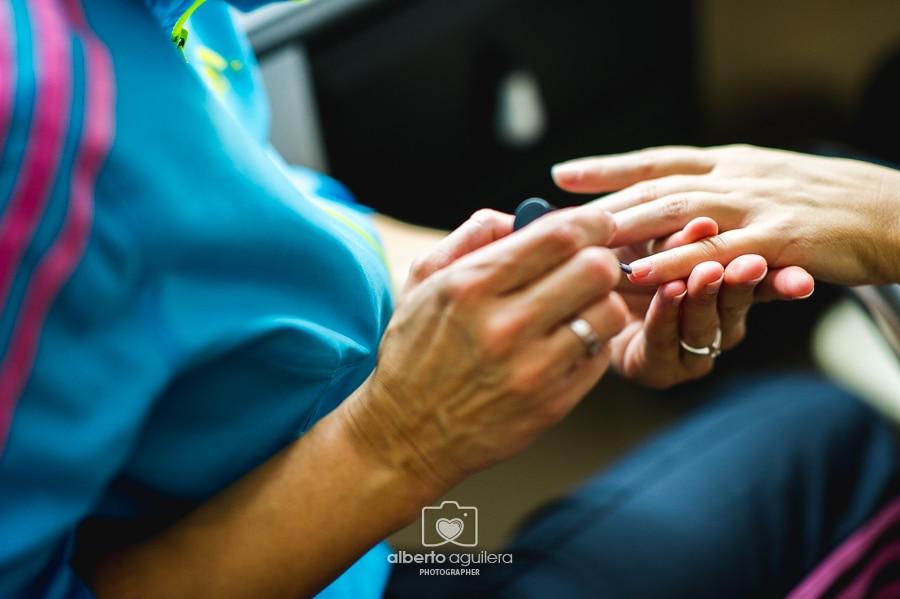 preparativos boda, detalle uñas