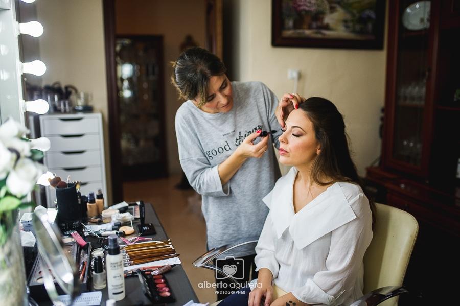 preparativos novia maquillaje