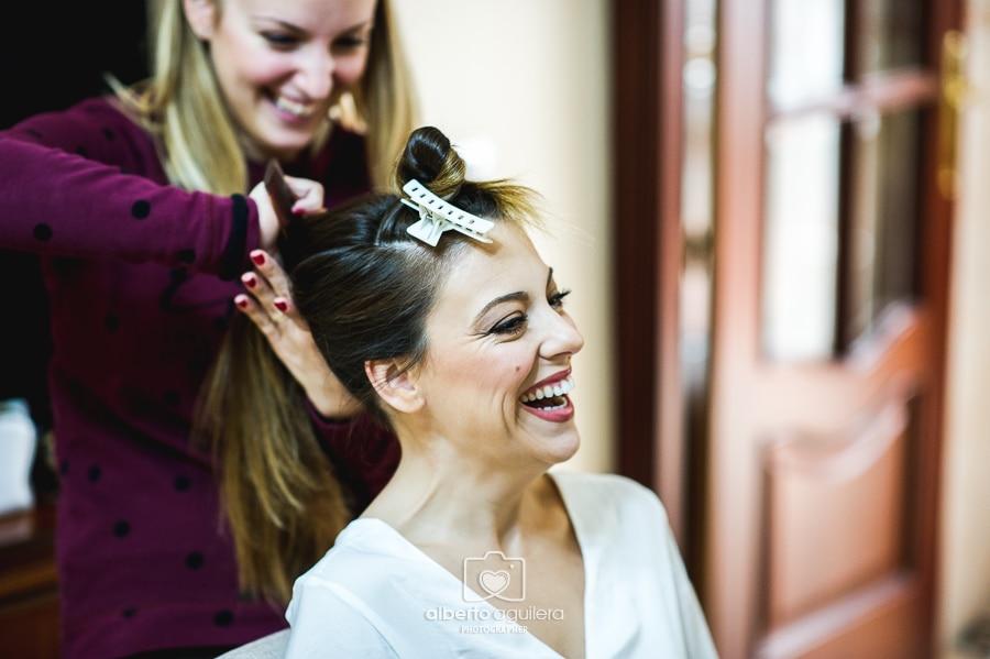 peluquería novia, preparativos