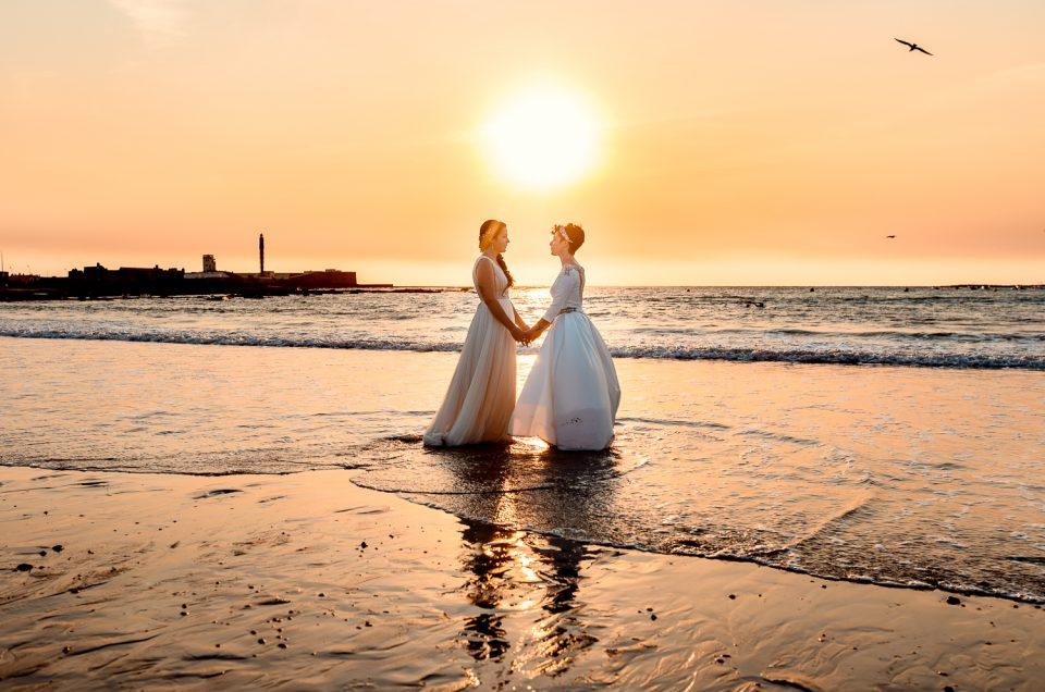Postboda de chicas en las Playas de Cádiz